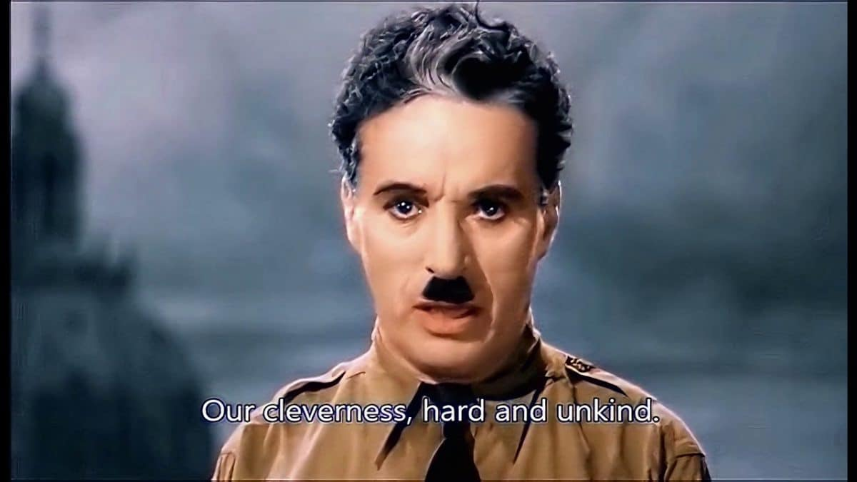Movie scene: Charlie Chaplin – The Great Dictator (1940)