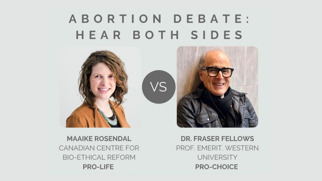 York University Abortion Debate - Maaike Rosendal and Dr. Fraser Fellows