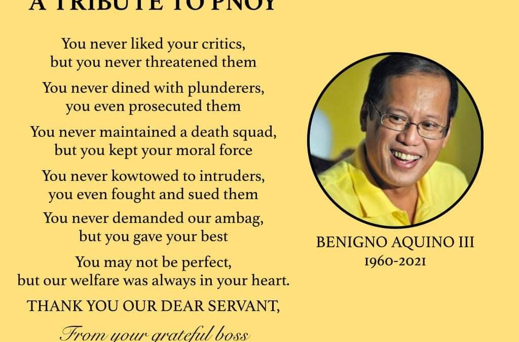Pnoy is dead, long live Pnoy